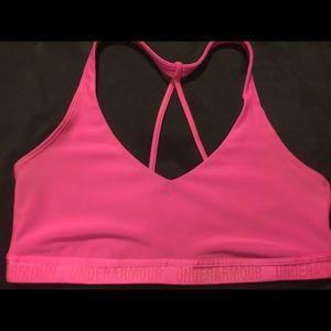 Pink Under Armour Sports Bra